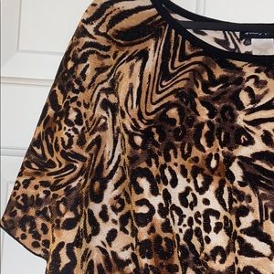 FRENCH ATMOSPHERE animal print blouse or top